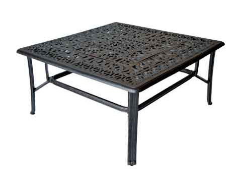 LD777AB-44SQ-Elizabeth 44-in Square Coffe  Table with BBQ/Firepit-W44xD44xD21 Weight 60lbs