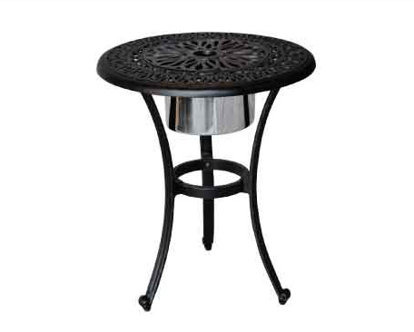 LD777IB-Elizabeth Round End Table with  Ice-Bucket Dia 21xH25-Weight 28lbs