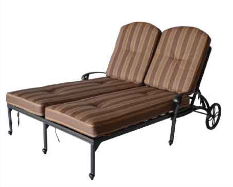 LD777-99Double Chaise Lounge - Total Sizes W54xD86xH40 Seat Sizes W49xD54xH12-Arm H19 Weight 90lbs