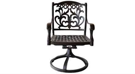 "LD1238-1 Mandalay Swivel Rocker Dining Chair Total Sizes W24""xD27""xH36"" Seat Sizes W22xD21xH16-Arm H25""-Weight 30 lbs"