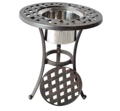 LD1031EI-R Nassau Round End Table with Ice Bucket Dia 21xH25 - Weight 28 lbs