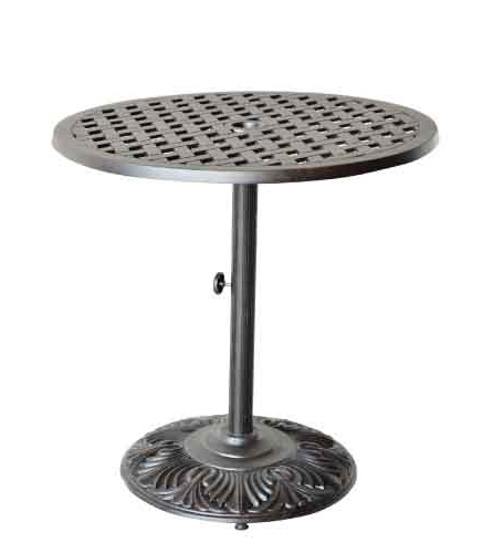 "LD1031L-30""- Nassau 30 in Round Predestal Bar Table -  Dia 30xH40 Weight 75 lbs"