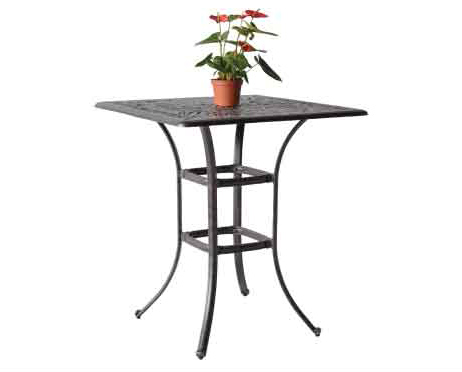 "LD1031L -36x36""- Nassau 36-in square Bar Table  36xH40 Weight 55 lbs"
