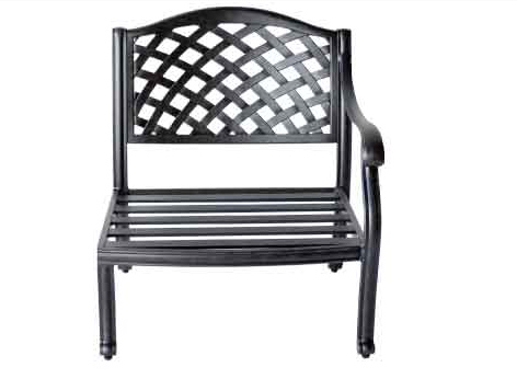 LD1031 -21L Nassau left arm club chair-Total Sizes W28xD30xH11-Stat Sizes W27xD24xH11- Arm H24 Weight 30lbs