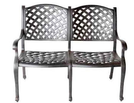 LD1031-1- Nassau Bench-Total Sizes W46xD27xH37 Seat Sizes W42xD21xH17-Arm H25-Weight 55 lbs